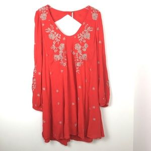 Free People Sweet Tennessee Red Dress L